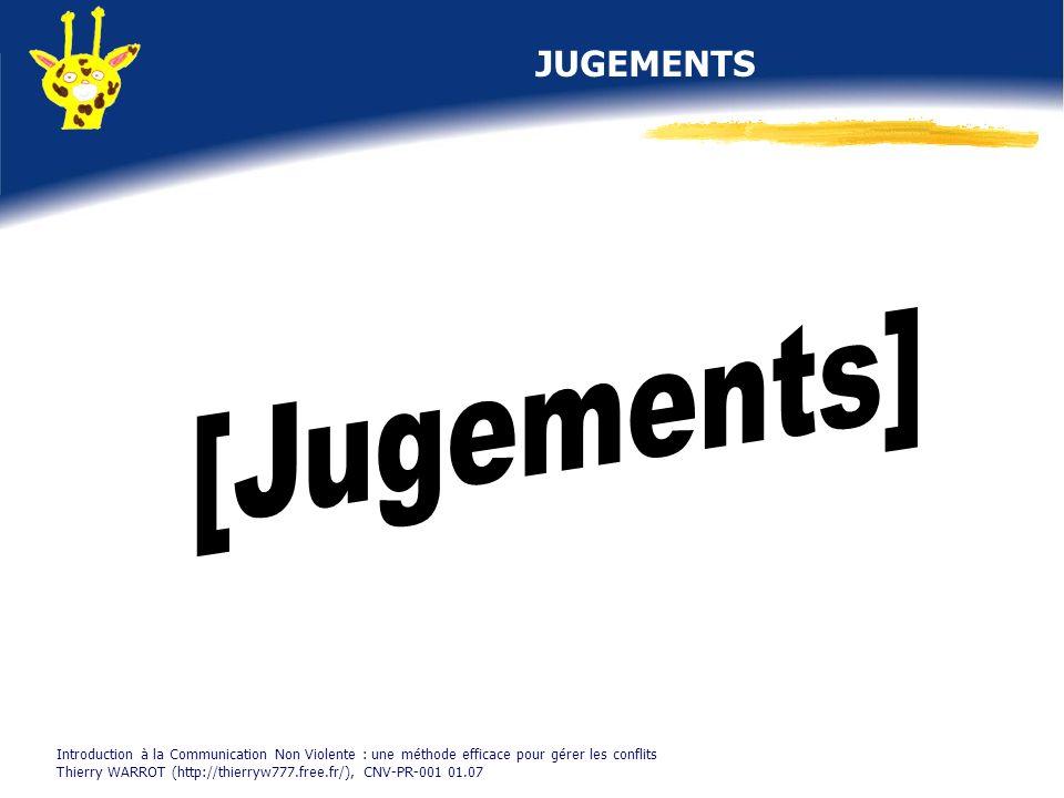 [Jugements] JUGEMENTS